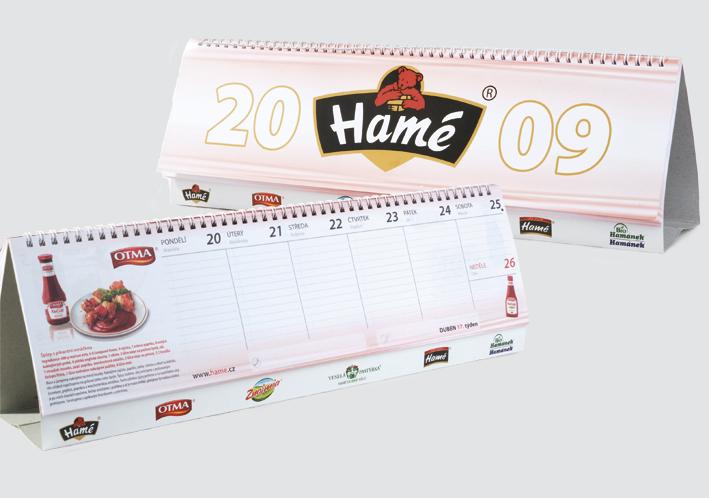 Tisk kalendáře Hamé