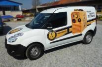 Omicron – polep užitkového vozu Fiat Doblo