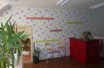Atlantic – polep stěn v interiéru firmy