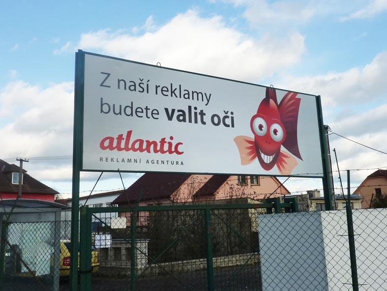 Reklamní polep billboardu Atlantic