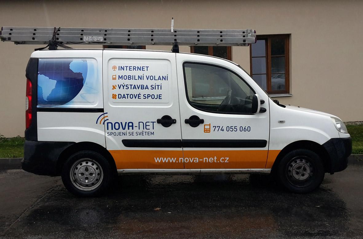 Polep auta pro Nova-net
