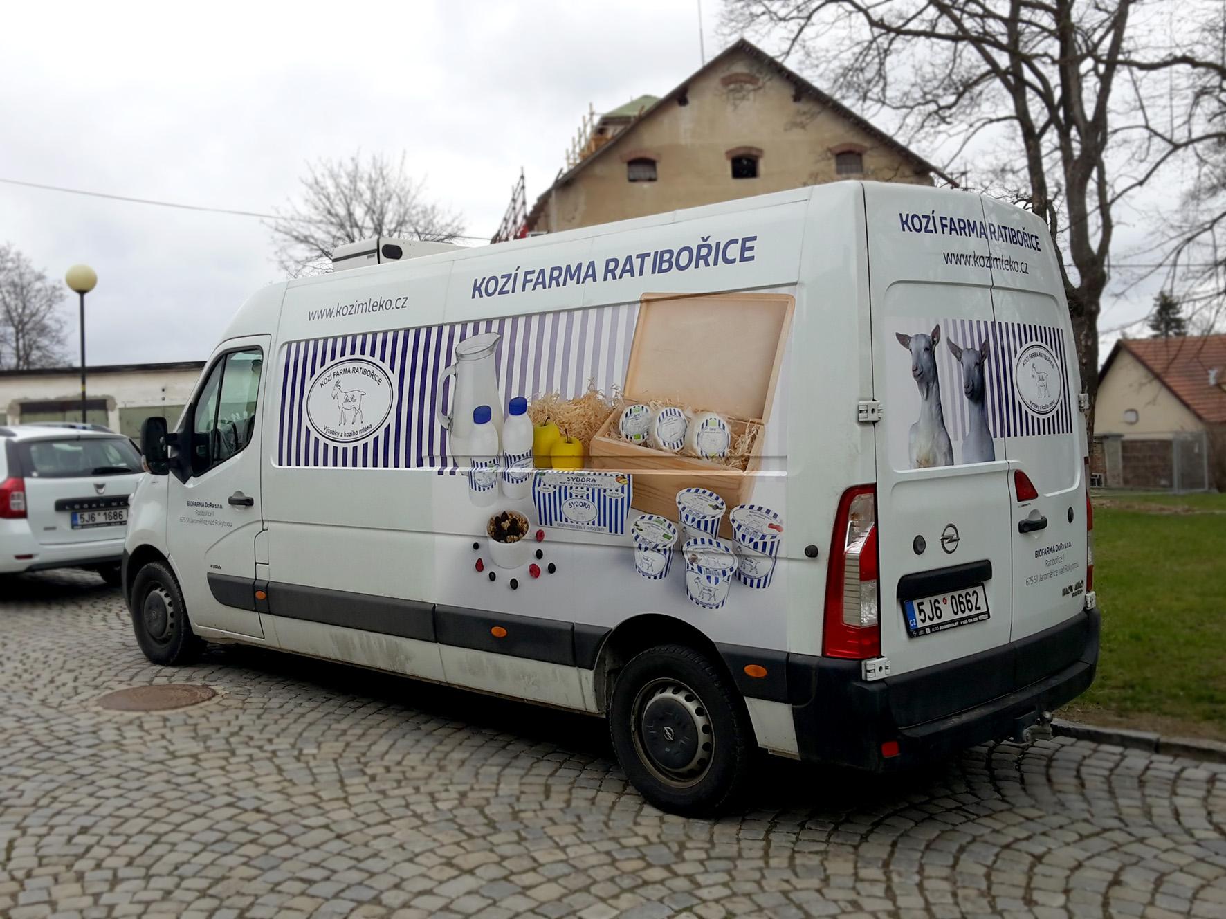 Biofarma DORA Ratibořice – polep dodávek