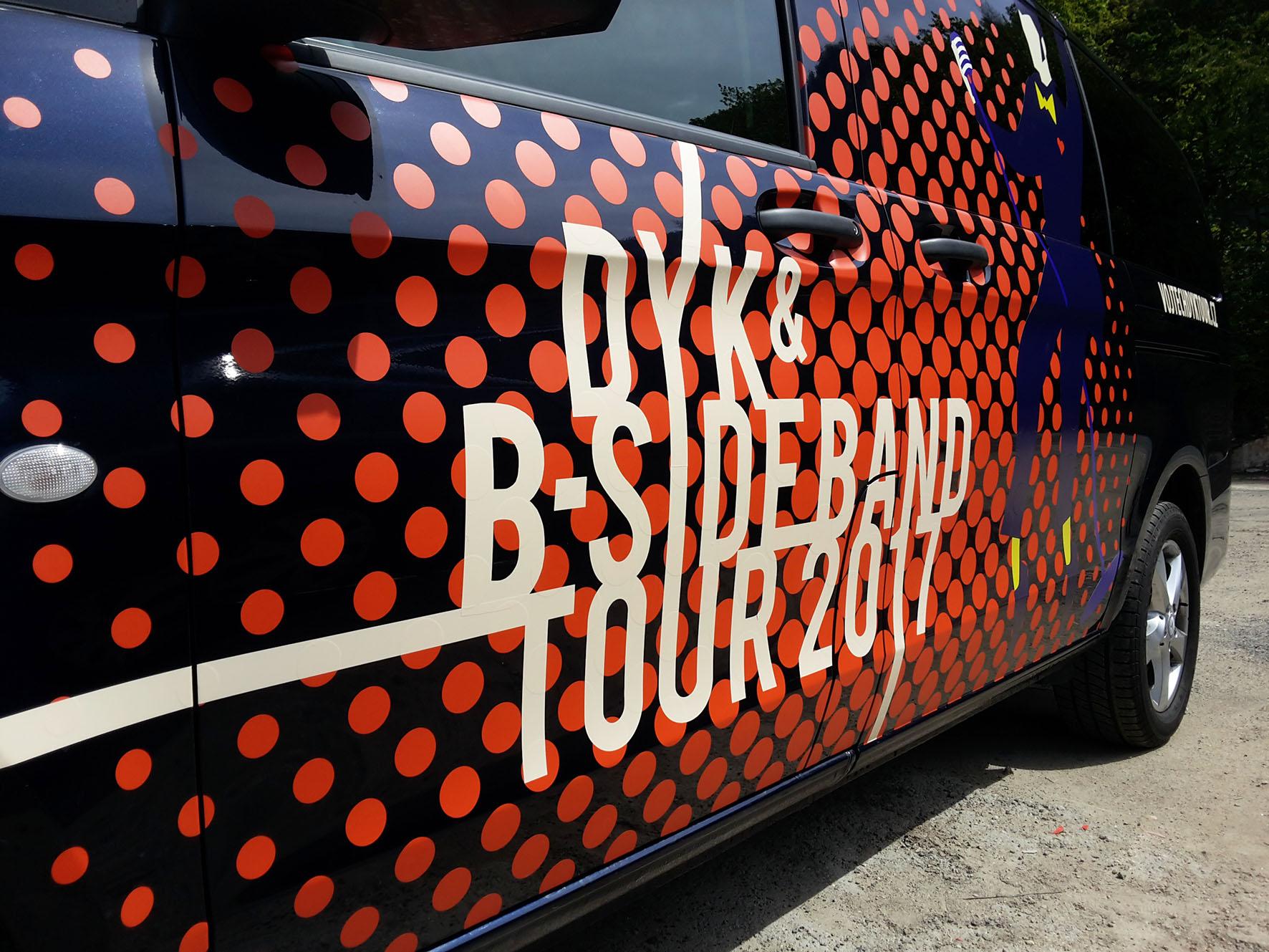 Vojta DYK turné 2017 – polep dodávek
