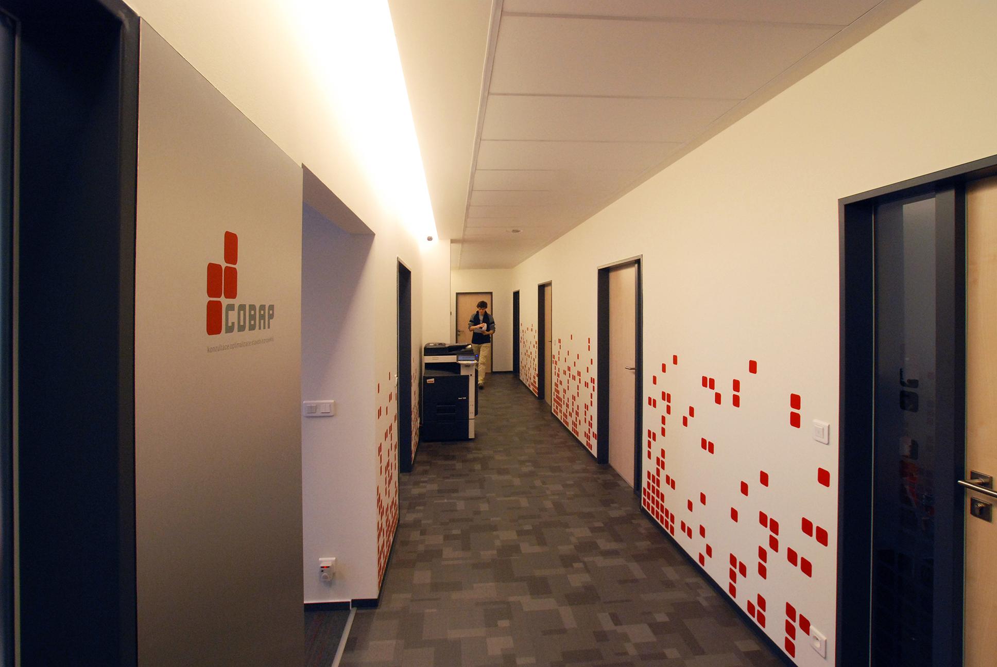 Cobap – polepy v interiérech firmy