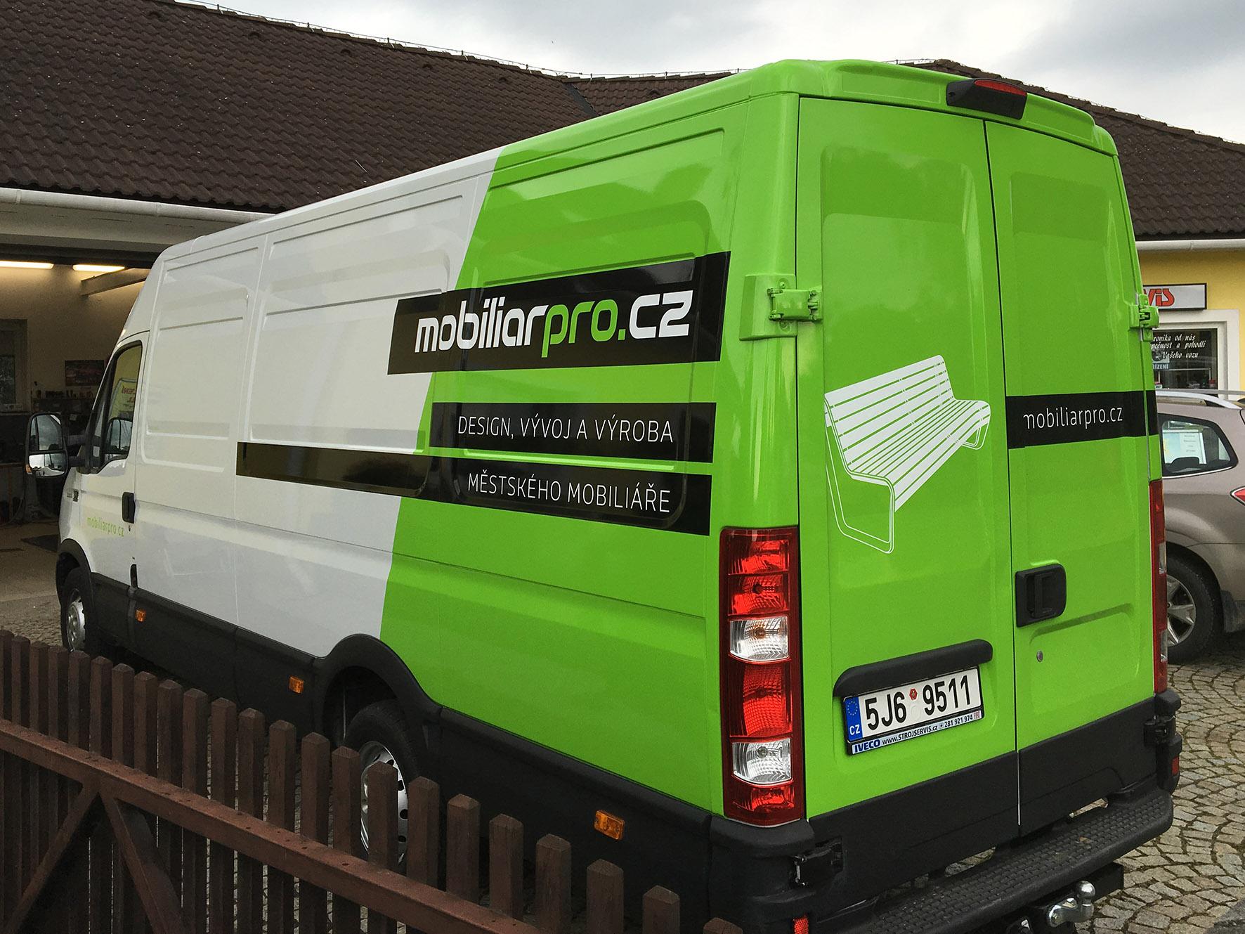Mobiliář Pro – polep dodávky