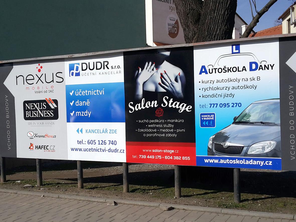 OD Třebíč – polep billboardu nájemníky komerčních prostor
