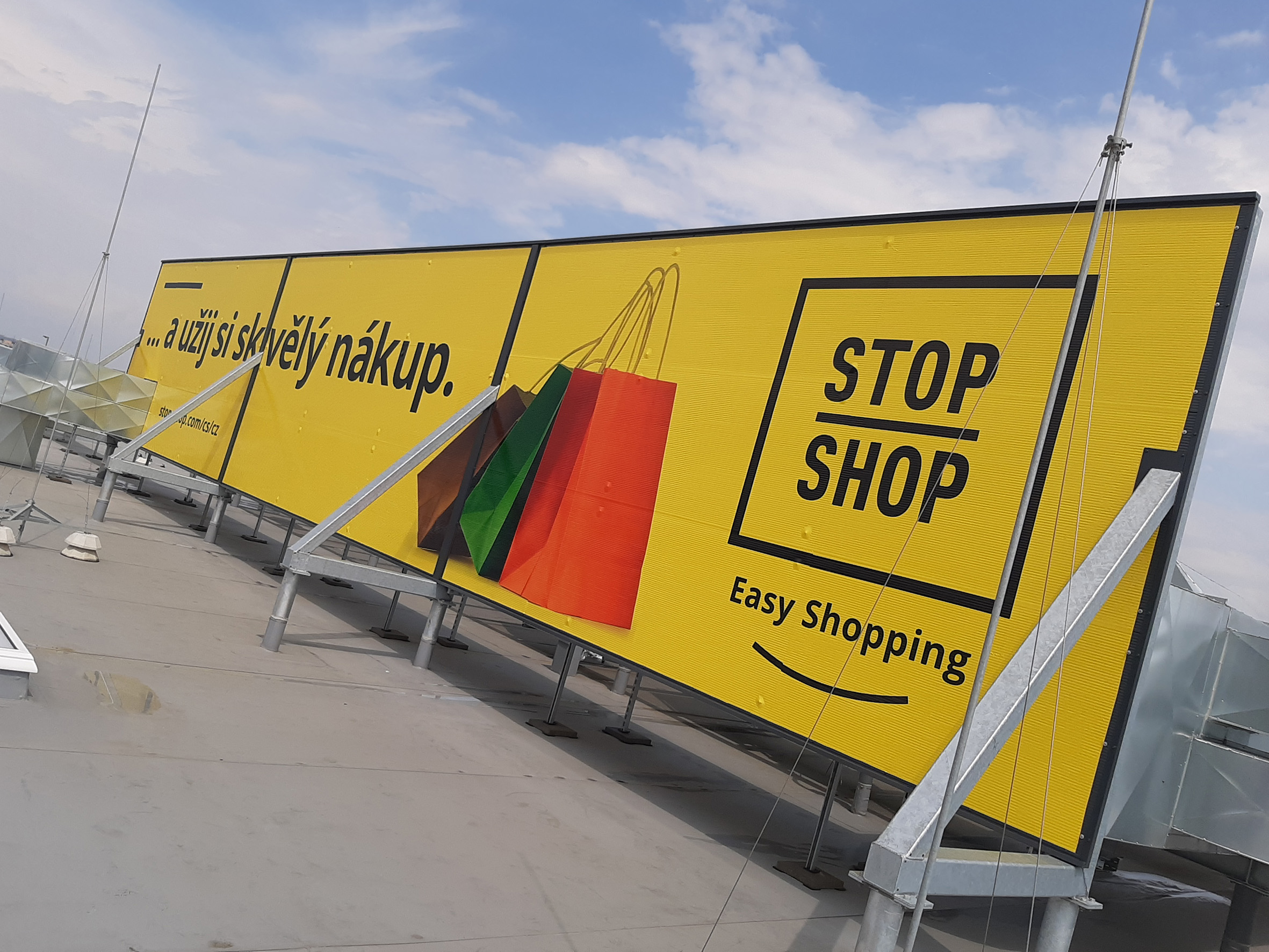 STOP SHOP – polep billboardu
